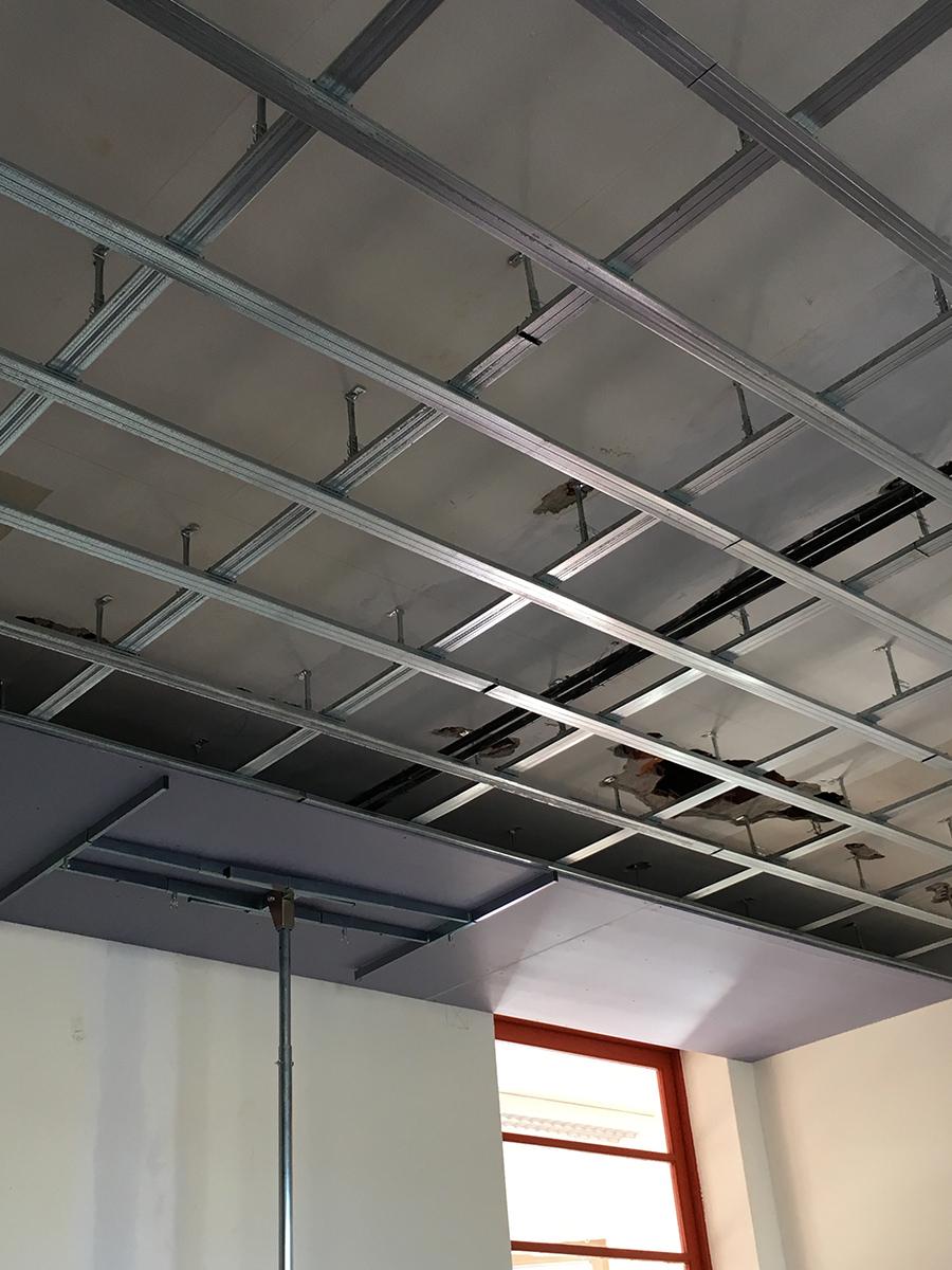 cartongesso pareti divisorie soffitto scuola