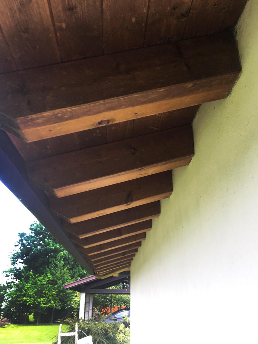 ristrutturazione travi tetto impregnante